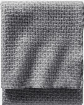 Pendleton Lattice Weave Grey / Slate Wool Bed Blanket