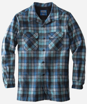 Pendleton Classic Fit Board Shirt in Blue Original Surf Plaid