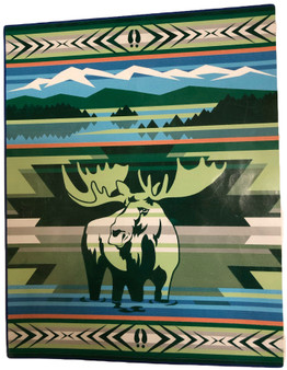 Animals of Yellowstone Series Moose Blanket by Pendleton