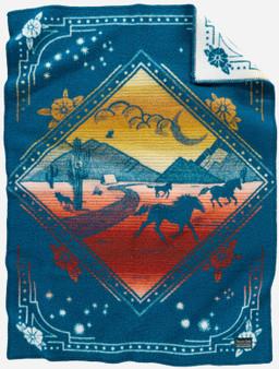 Pendleton Wind Riders Horse Crib Blanket