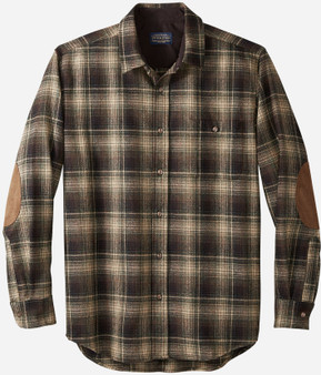 Classic Fit Trail Shirt in Tan Black and Green Ombre