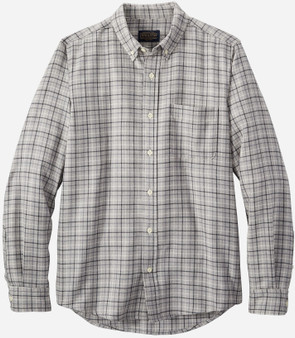 Pendleton Fitted Evergreen Shirt in Grey Mix Windowpane