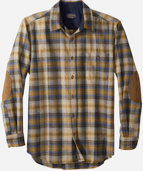 Pendleton Trail Shirt Olive Blue and Bronze Plaid