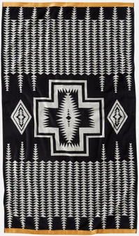 Pendleton Harding Black Oversize Spa Towel