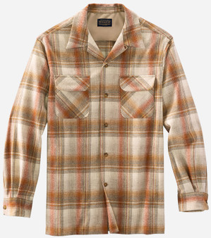 Pendleton Classic Fit Board Shirt in Copper Plaid