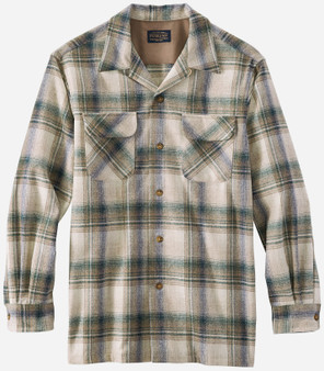 Pendleton Classic Fit Board Shirt in Navy Blue Plaid