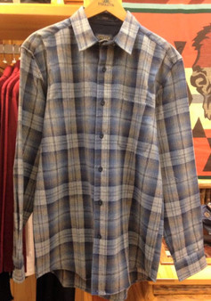 Pendleton Classic Fit Lodge Shirt in Blue Ombre Plaid