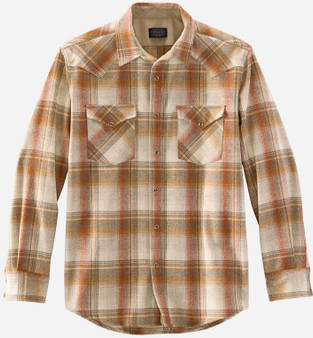 Pendleton Classic Fit Canyon Western Snap Shirt in Copper Plaid
