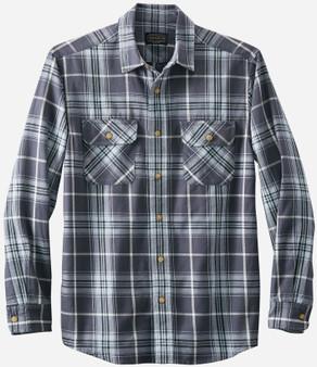 Pendleton Beach Shack Indigo Jade Plaid Cotton Shirt