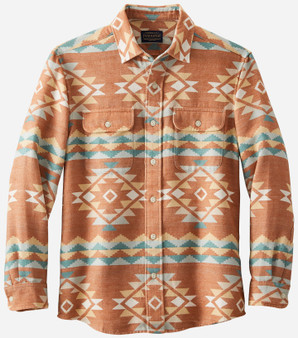 Pendleton Beach Shack Jacquard Terra Cotta Cotton Shirt