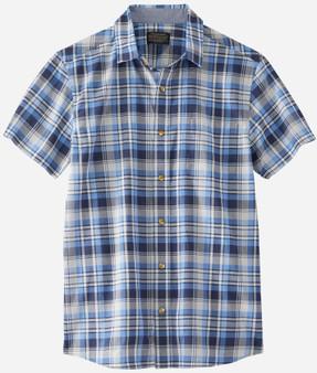 Short Sleeve Truman Shirt Navy/Blue Plaid