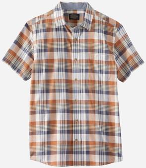 Pendleton Short Sleeve Truman Cotton Shirt Sierra Blue