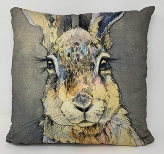 Ringholz Studios 16 x 16 Inch Rabbit and Wolf Pillow