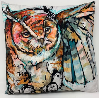 Ringholz Studios 20 x 20 Inch Owl and Bear Pillow