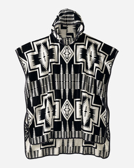 Pendleton Harding Black Adult Jacquard Hooded Towel