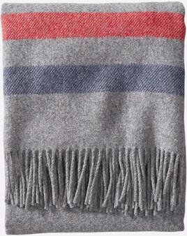 Pendleton Eco-Wise Washable Wool Grey Stripe Throw
