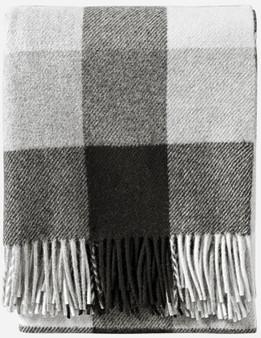 Pendleton Eco-Wise Washable Wool Black Ivory Plaid Throw