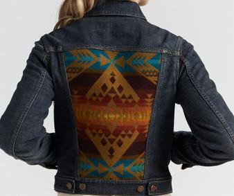Pendleton Diamond Peak Denim and Wool Jean Jacket