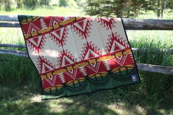 Pendleton Buell Manufacturing Tribute Blanket 1 - Aztec