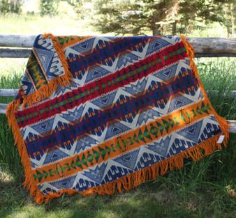 Pendleton Cayuse Orange Blanket Vintage