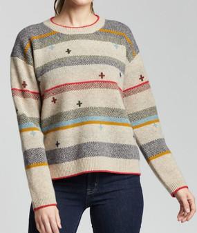 Pendleton Women's Bridger Stripe Lambswool Sweater