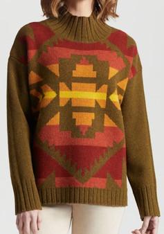 Pendleton Women's Lambswool Graphic Sweater In Dark Bronze Multi