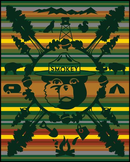 75th Anniversary of Smokey Bear Blanket woven by Pendleton Woolen Mills
