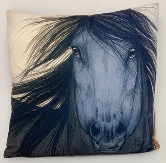 Ringholz Studios 16 x 16 Inch Horse and Bison Pillow