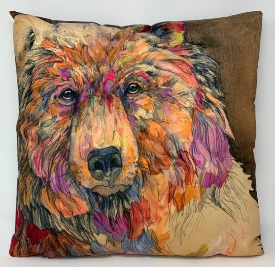 Ringholz Studios 20 x 20 Inch Bear And Moose Pillow
