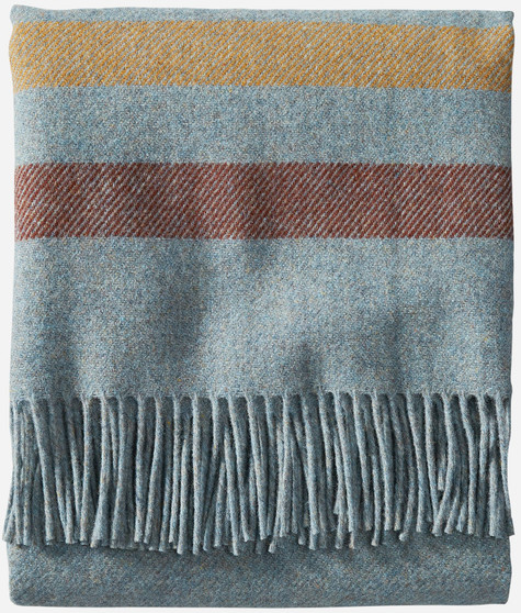 Pendleton Eco-Wise Washable Wool Shale Stripe Throw