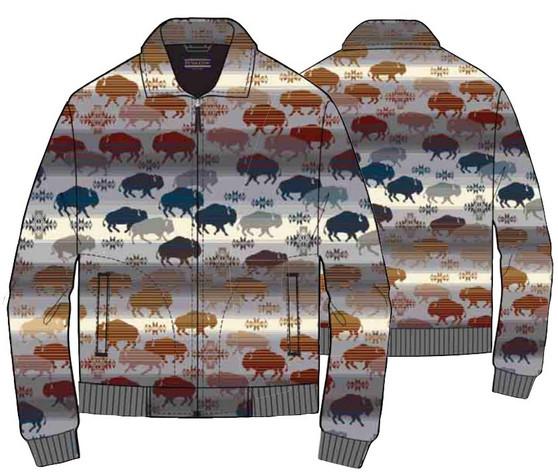 Pendleton Prairie Rush Hour Jacquard Zip Coat