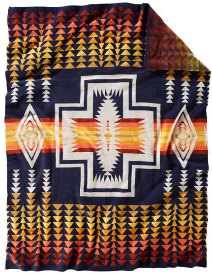 Pendleton Harding Navy Knit Throw
