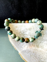 African turquoise and a turtle