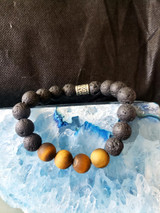 matte tiger eye and lava