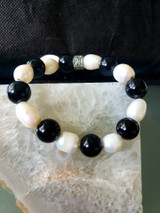 pearls and onyx