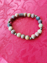 jasper & metal beads bracelet