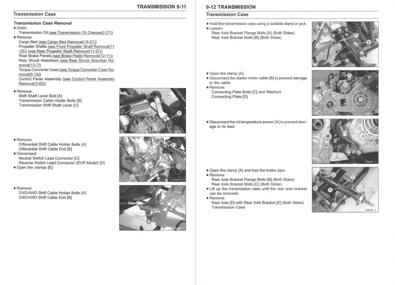 Kawasaki 2019 Mule SX DFI Service Manual