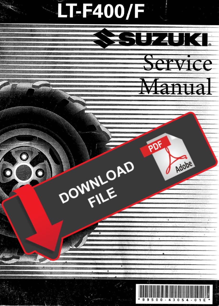 Suzuki 2003 Eiger Lt F400f Service Manual