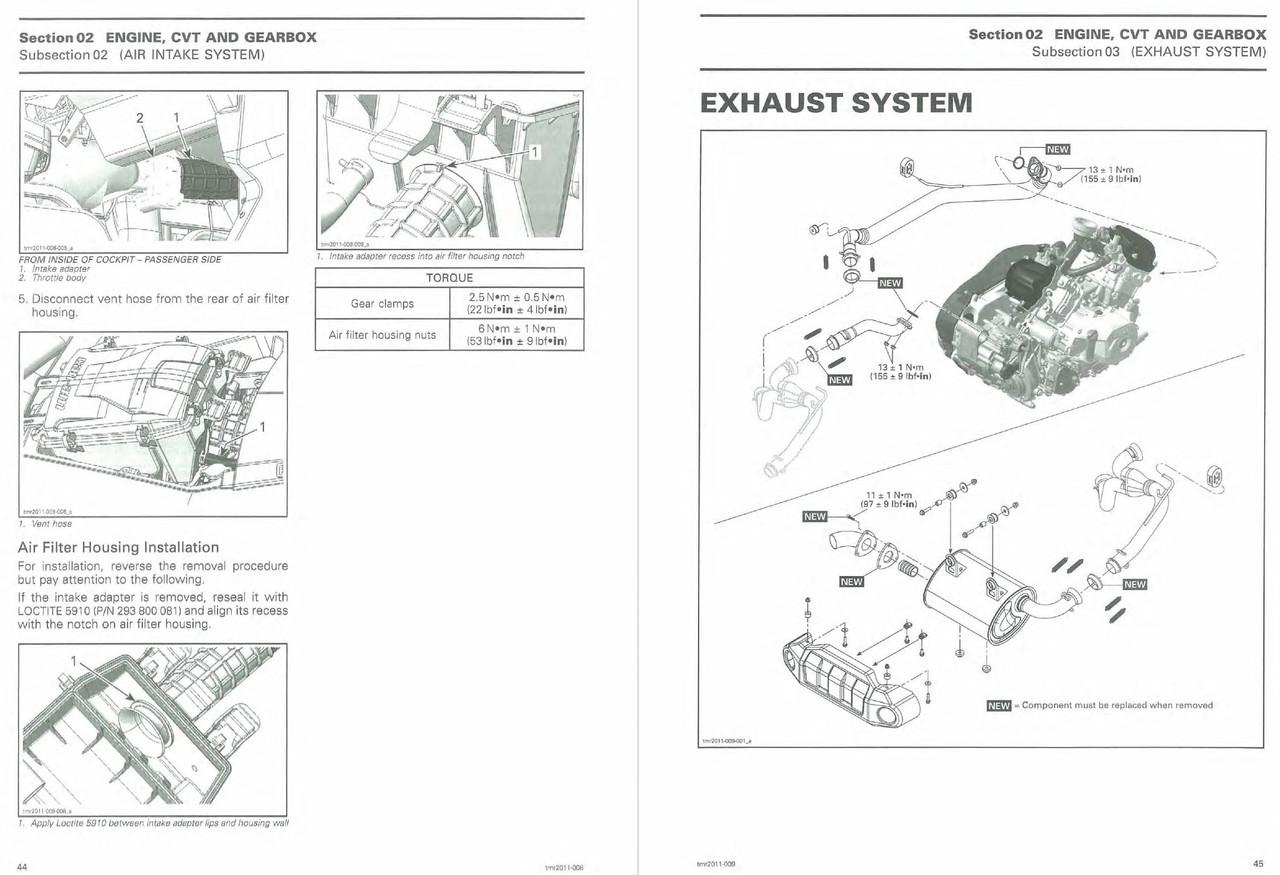 Can-Am 2012 Commander 1000 XT Service Manual
