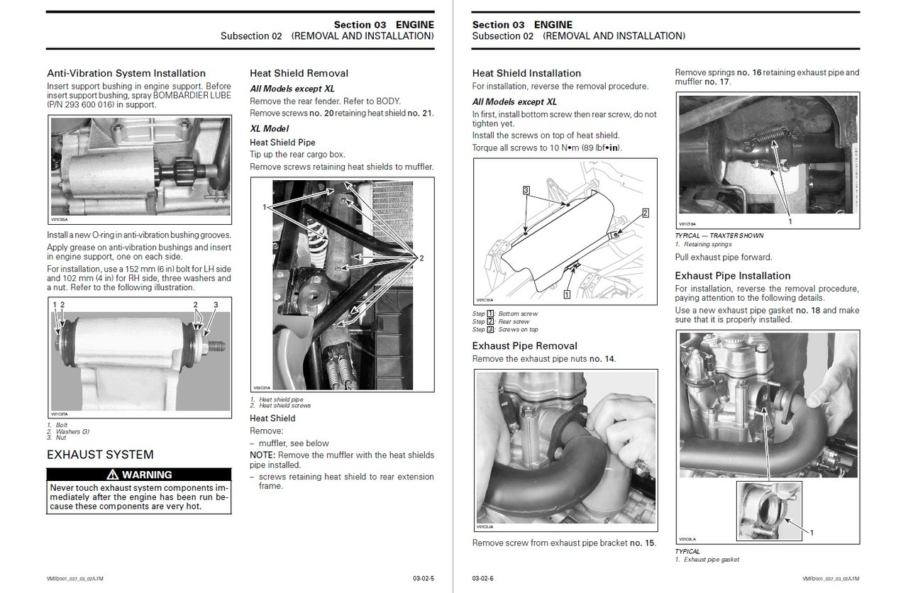 Bombardier 2001 Traxter Service Manual