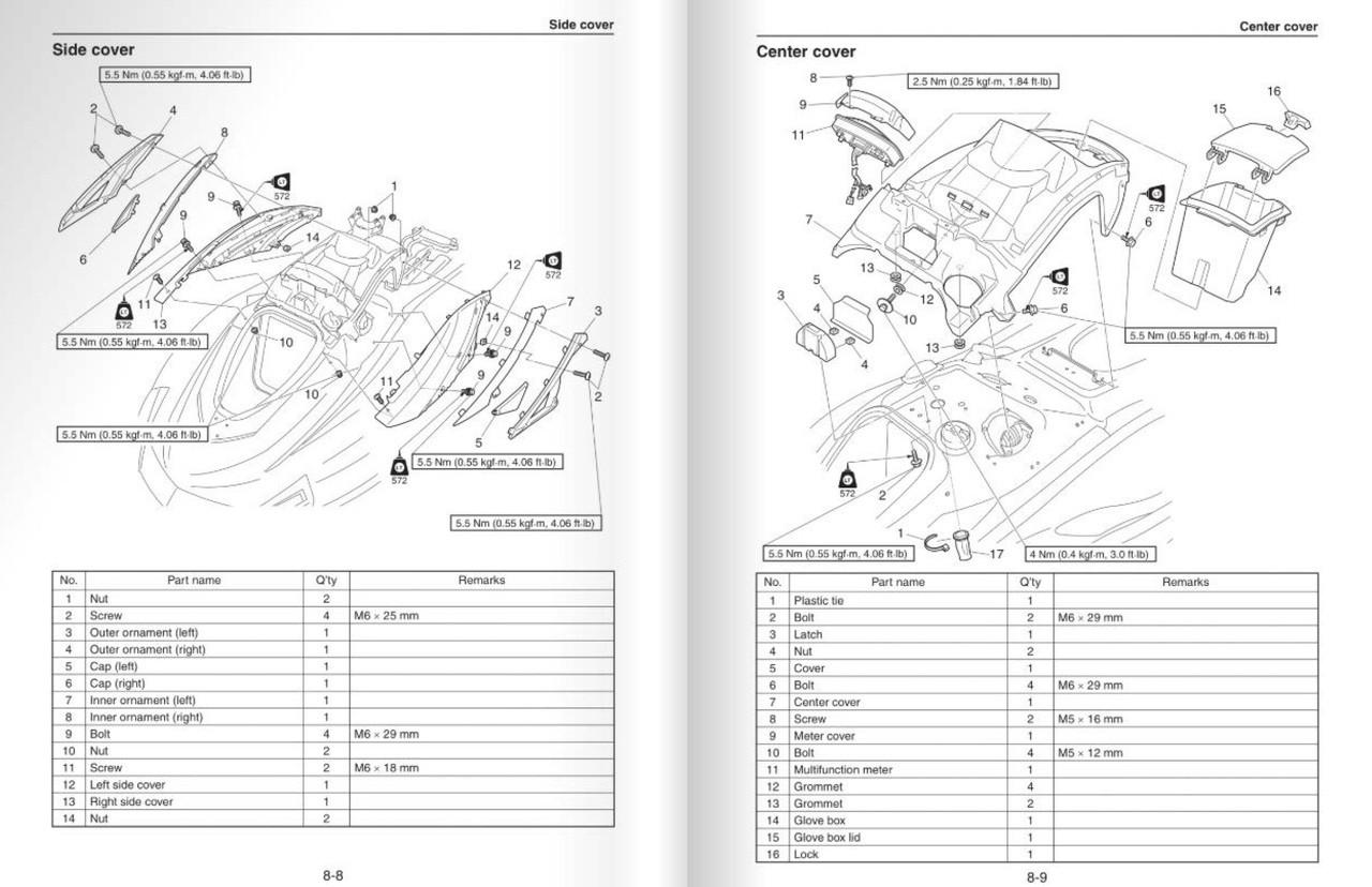 Yamaha 2017 Waverunner VX Service Manual