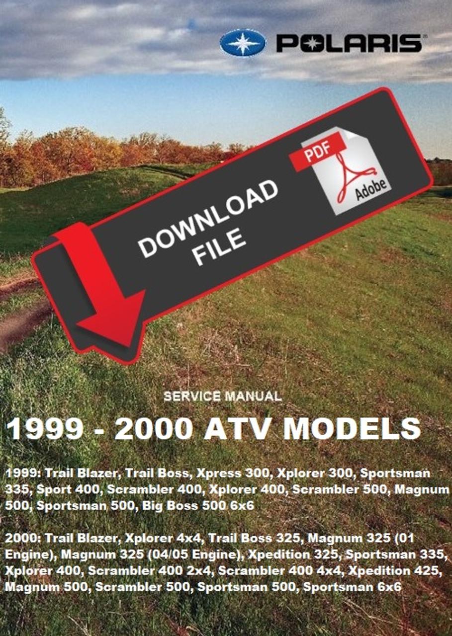 magnum 325 wiring diagram polaris 2000 magnum 325 atv service manual  polaris 2000 magnum 325 atv service manual