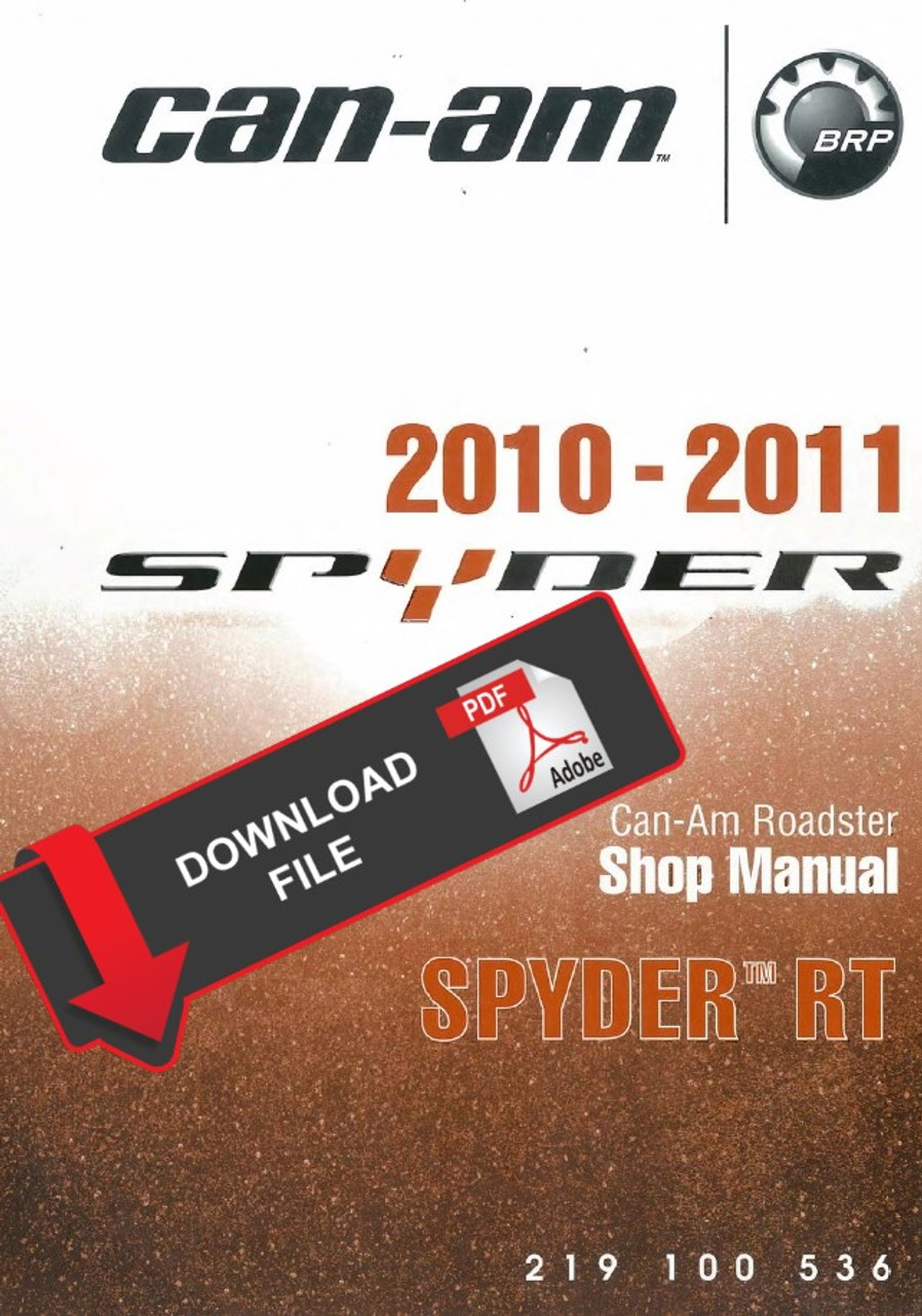 can-am 2010 spyder rts service manual