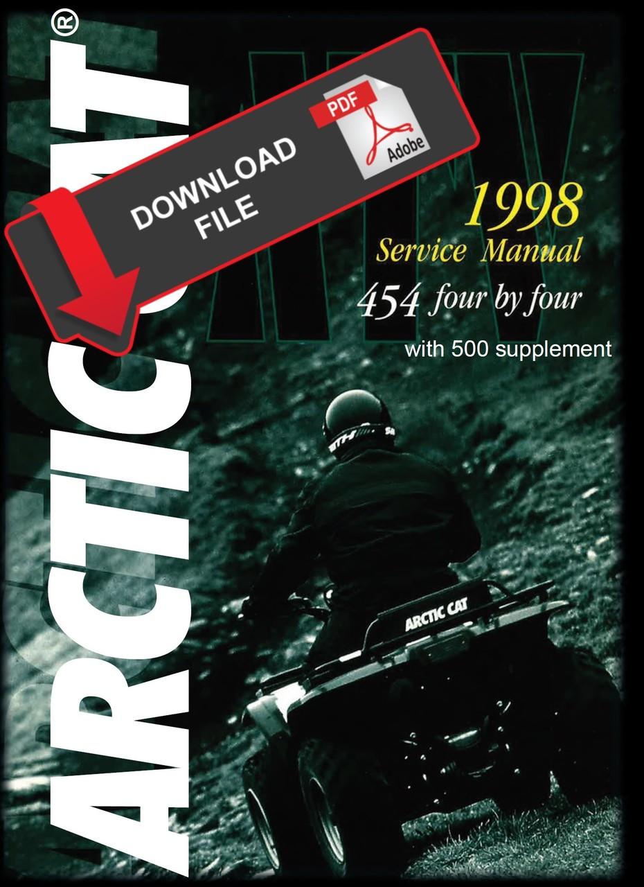 arctic cat 1998 454 4x4 atv service manual on arctic cat atv tracks, arctic  cat arctic cat bearcat wiring