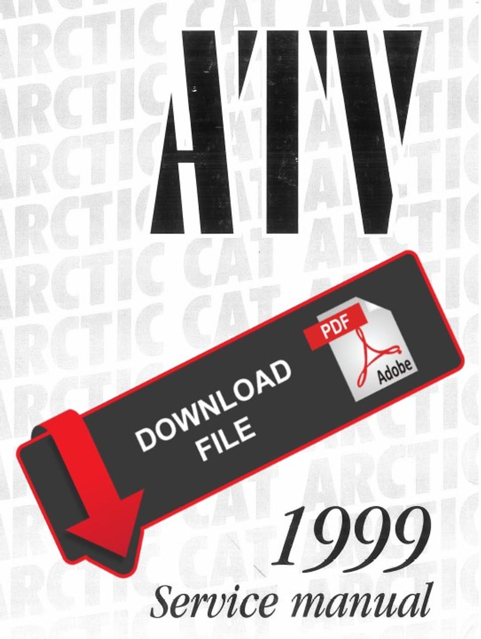 Arctic Cat 1999 500 4x4 Atv Service Manual