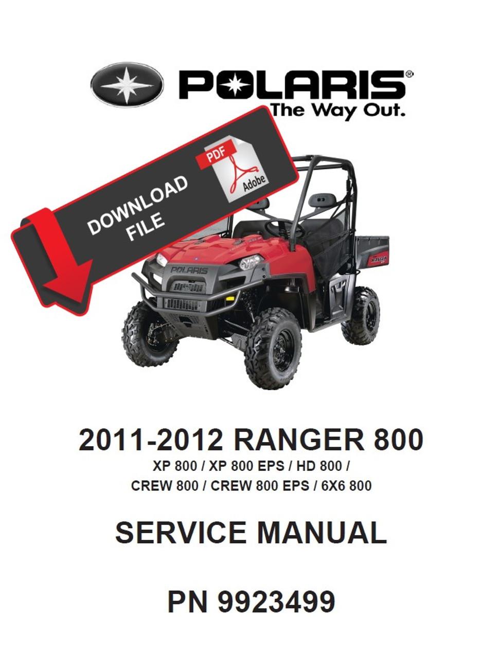 2008 polaris ranger 6x6 700 efi service repair manual.