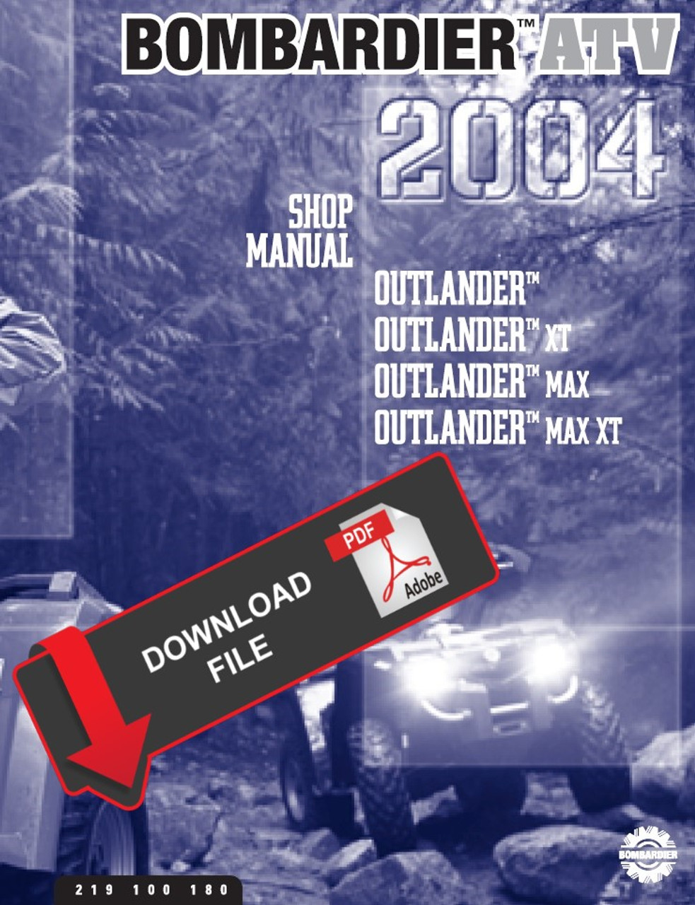 Bombardier 2004 Outlander 400 Service Manual