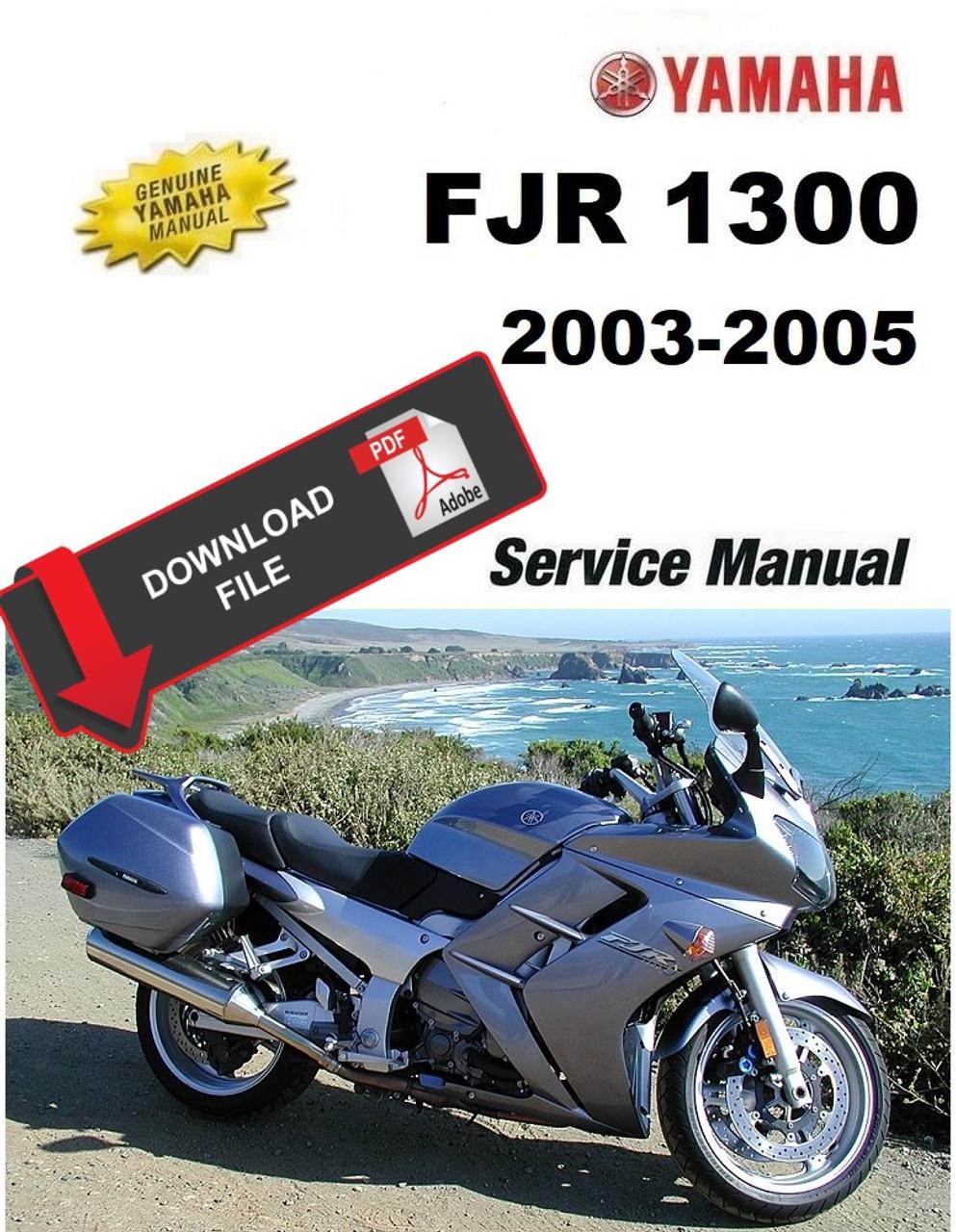 2016-2019 yamaha fjr1300 motorcycle service manual: lit-11616-29.