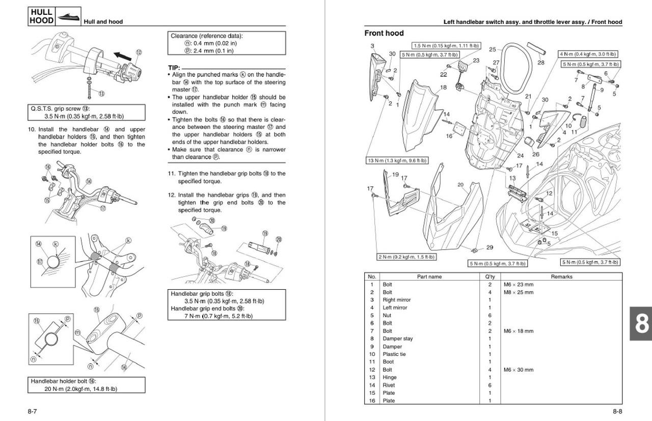 Yamaha 2016 Waverunner FX Cruiser HO Service Manual