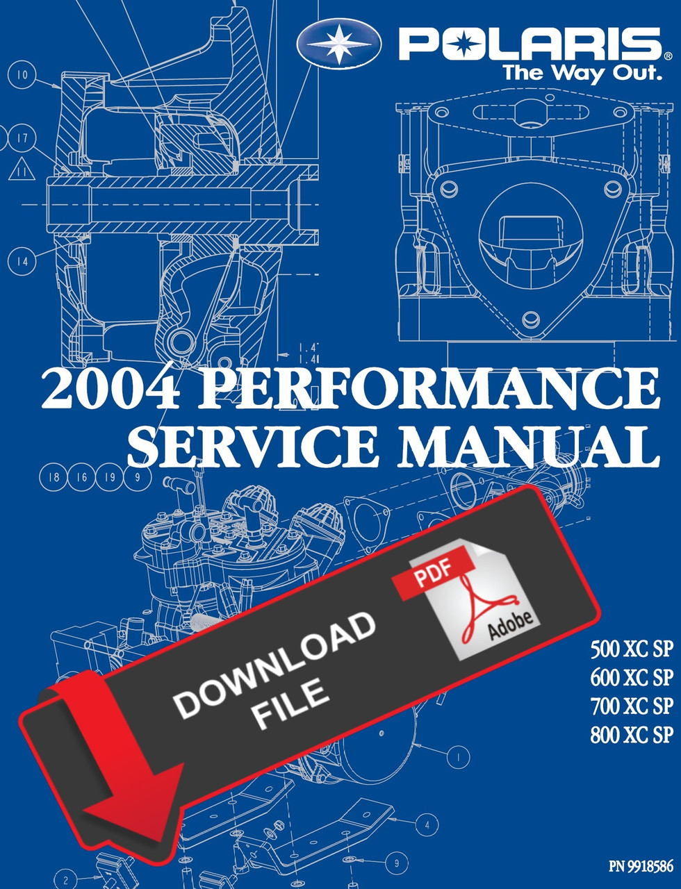 Polaris 2004 800 XC SP Service Manual on